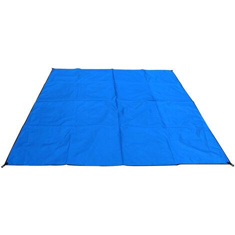 Outdoor Beach Blanket Impermeable Plage De Sable Tapis Leger Resistant Couverture De Pique-Nique Avec Sac De Rangement, Bleu, Type 1