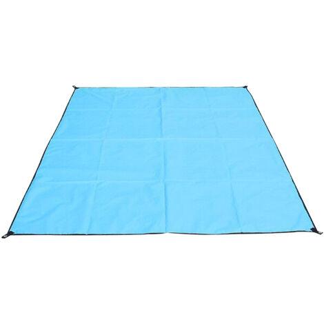 Outdoor Beach Blanket Impermeable Plage De Sable Tapis Leger Resistant Couverture De Pique-Nique Avec Sac De Rangement, Bleu, Type 3