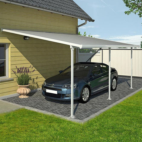 Outdoor Car Port Structure Gazebo Canopy Roof Patio Shelter Yard Cover Sun Shade