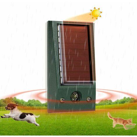 Outdoor Cat Repellent, Ultrasound Cat, Dog Repellent, Solar Charging, USB Charging Prevent Dogs and Cats, Birds, for Gardens, Fields, Nurseries, Waterproof IP58
