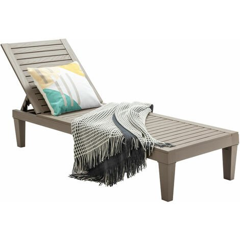 Outdoor Chaise Lounge Chair Patio 5 Reclining Positions Lounger Adjustable