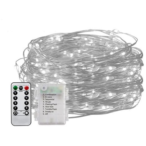 Outdoor Christmas Led Fairy String Lights with Battety-Box & Remote Control