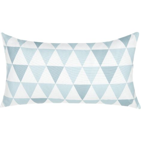 Outdoor Cushion 40 x 70 cm Blue and White