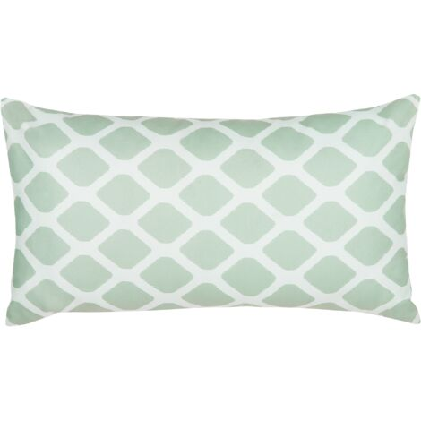 Outdoor Cushion 40 x 70 cm Mint Green and White