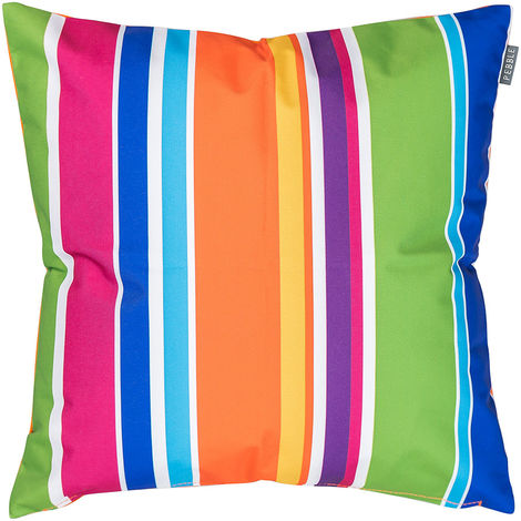 Outdoor Cushion - 43cm x 43cm - Ready Fibre Filled, Water Resistant - Decorative Scatter Cushions for Garden Chair, Bench, or Sofa