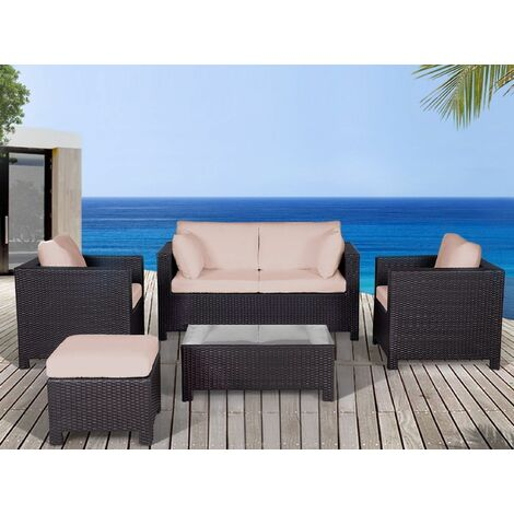 Outdoor Cushion Cover Set Beige MILANO