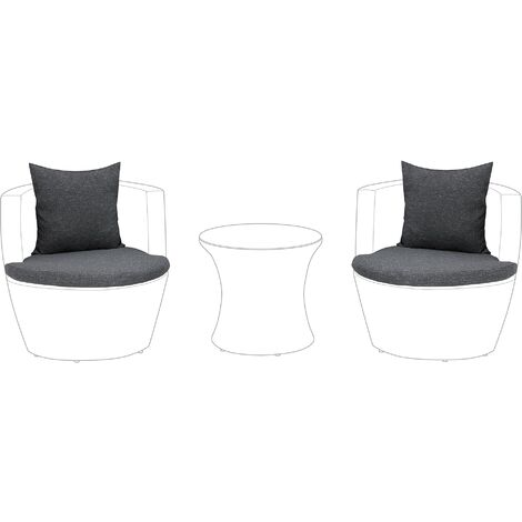 Outdoor Cushion Cover Set Grey CAPRI