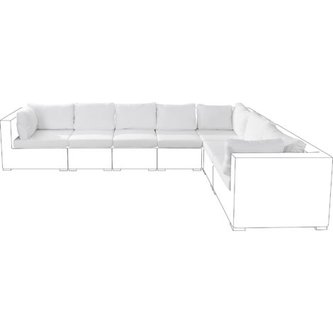 Outdoor Cushion Cover Set Off-White GRANDE