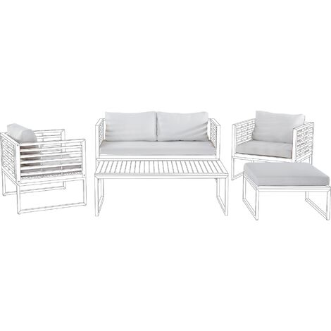 Outdoor Cushion Cover Set White BERMUDA