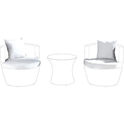 Outdoor Cushion Cover Set White CAPRI