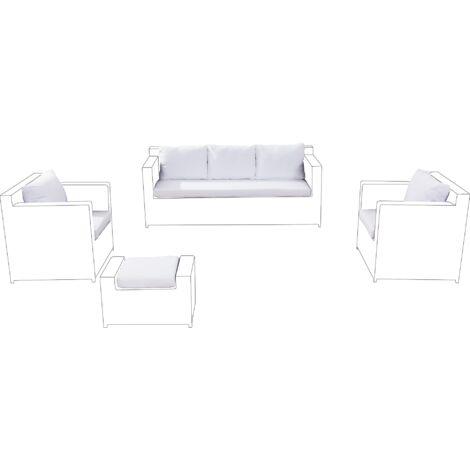 Outdoor Cushion Cover Set White ROMA