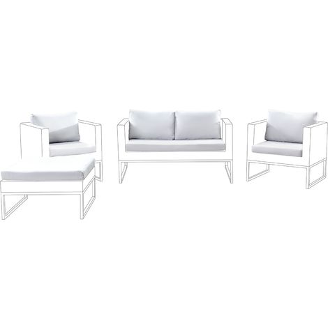 Outdoor Cushion Covers Set Off-White CREMA