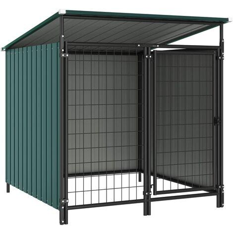 Outdoor Dog Kennel 133x133x116 cm - Green