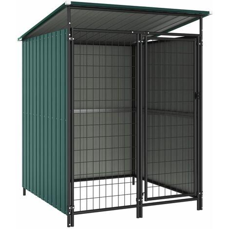 Outdoor Dog Kennel 133x133x164 cm - Green
