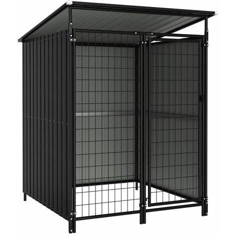 Outdoor Dog Kennel 133x133x164 cm - Grey