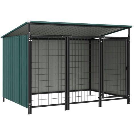 Outdoor Dog Kennel 193x133x116 cm - Green