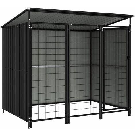 Outdoor Dog Kennel 193x133x164 cm - Grey