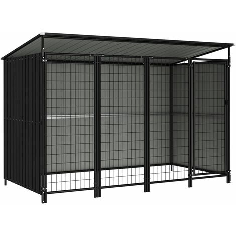 Outdoor Dog Kennel 253x133x163 cm