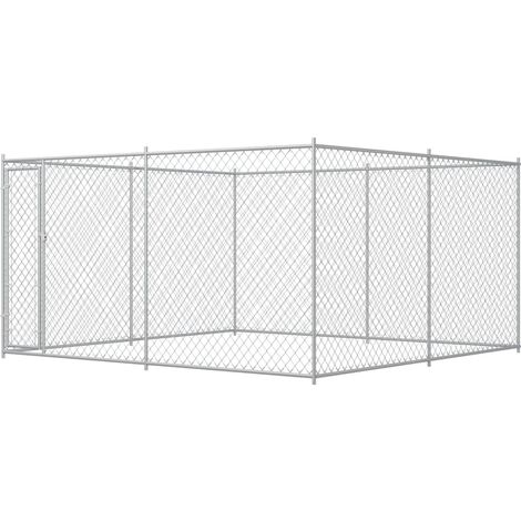Outdoor Dog Kennel 383x383x185 cm