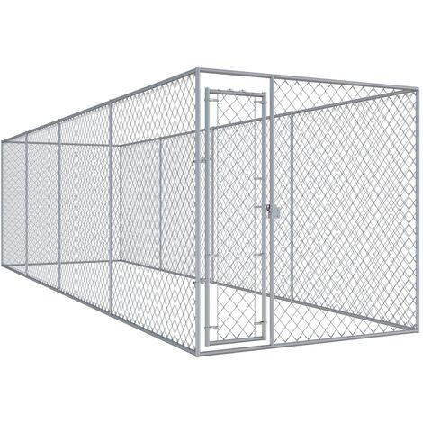 Outdoor Dog Kennel 7.6x1.9x2 m