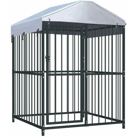 Outdoor Dog Kennel with Roof 120x120x150 cm