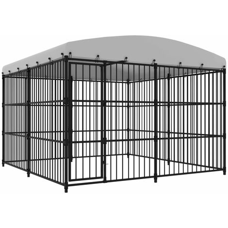 Outdoor Dog Kennel with Roof 300x300x210 cm