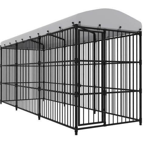 Outdoor Dog Kennel with Roof 450x150x210 cm