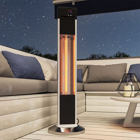 """main image of """"Outdoor Electric Patio Heater Carbon Infrared Floor Standing with Remote Control"""""""