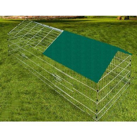 Outdoor enclosure green, run, outdoor enclosure, rabbits, rabbits 180x75x75 cm