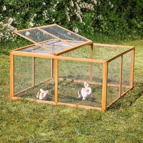 Outdoor enclosure wood 6 elements 120 x 120 x 59 cm