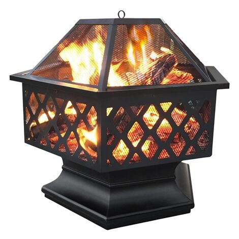 Outdoor Fire Pit Patio Heater for BBQ/Camping Bonfire, Iron Fire Bowl for Garden/Backyard/Poolside