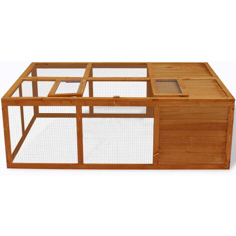 Outdoor Foldable Wooden Animal Cage QAH06938