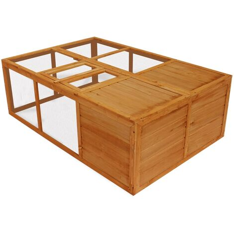 Outdoor Foldable Wooden Animal Cage VDTD06938
