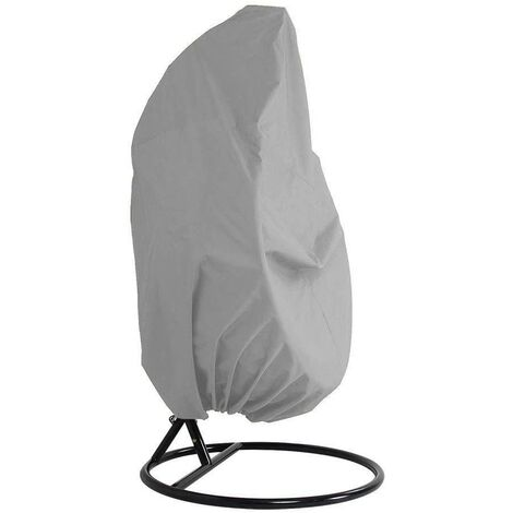 """main image of """"Outdoor Furniture Cover - Garden Rattan Wicker Waterproof Hanging Chair Furniture Cover - Egg Protective Cover Chair - 210D Oxford Polyester PVC Cover - Gray - Gris"""""""