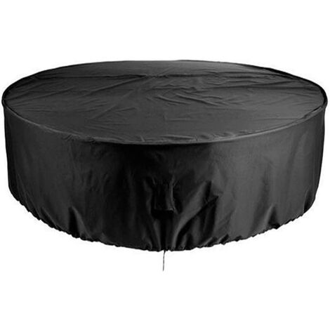 Outdoor Furniture Cover, Round Waterproof Outdoor Garden Table Cover, Patio Furniture, UV Shelter and Dustproof Dining Chairs 230x110cm See Image