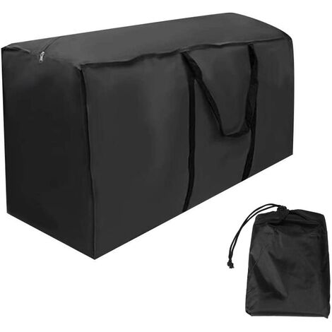 Outdoor Furniture Cushions Storage Bag, Waterproof, Dustproof, UV Resistant, Sturdy 210D Oxford Fabric Christmas Tree Storage Cover (120x40x55cm) -Black