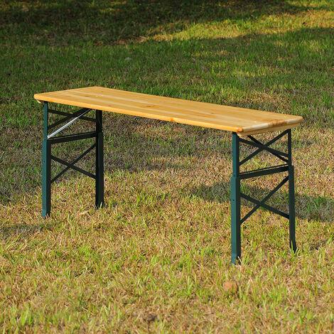 Outdoor Garden Adjustable Height Folding Wooden Table