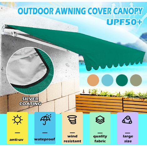 Outdoor Garden Awning Cover Waterproof Sun Shade Canopy (Orange, 2.5m by 3m)
