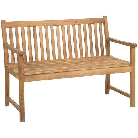 "main image of ""Outdoor Garden Bench Certified Acacia Wood 120 cm Light Brown Vivara"""