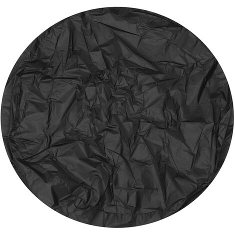 Outdoor Garden Fire Pit Cover Protective Case Waterproof Dustproof UV Protection black