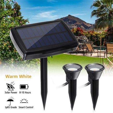 Outdoor Garden Lawn Path Wall Lamp Light Solar Power LED Floodlight