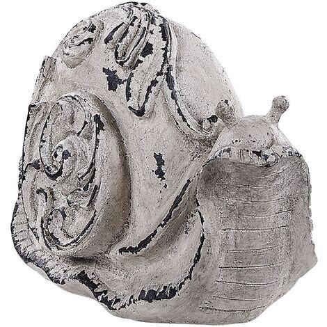 "main image of ""Outdoor Garden Modern Sculpture Decoration Piece Small Snail Grey Chiba"""