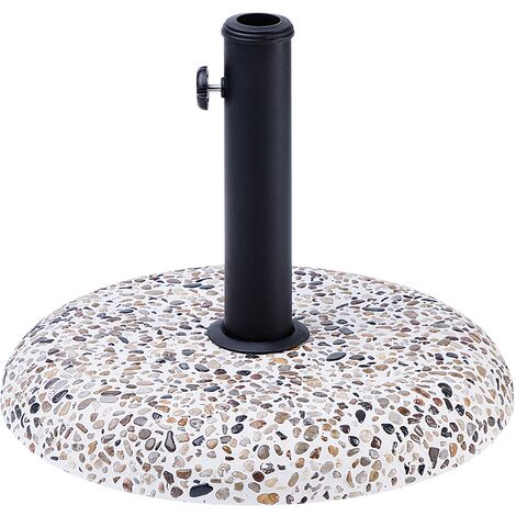 Outdoor Garden Parasol Base Concrete Stone 3 Pole Adapters Umbrella Stand Cevo
