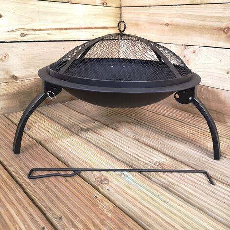 Outdoor Garden Patio Firepit Patio Heater with Mesh Lid