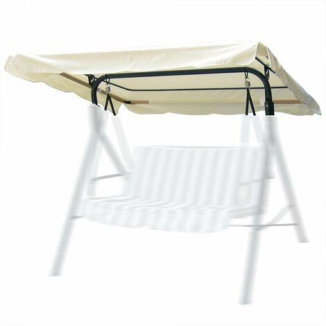 Outdoor Garden Patio Swing Chair Cover Beige,170 x 115cm