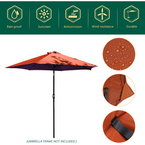 Outdoor Garden Umbrella Cover Patio Yard Patio Parasol Fabric 100 * 195 * 160Cm