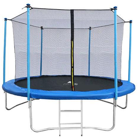 Outdoor Gartentrampolinmit Sicherheitsnetz undEinstiegsleiter 244 cm / 8 ft Tragkraft 150kg 7982