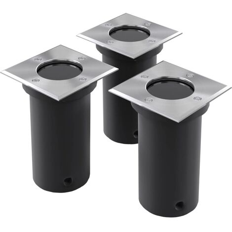 Outdoor Ground Lights 3 pcs Square