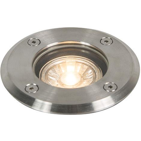 Outdoor ground spot steel 11cm IP67 - Basic Round
