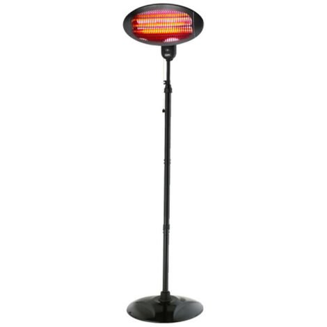 Outdoor heater EDM - with stand - 2000W - 49,6x24,2x15,6cm - 07090